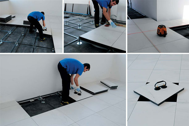 A Complete Guide To Interlocking PVC Floor Tiles Installation - Place and press floor tiles