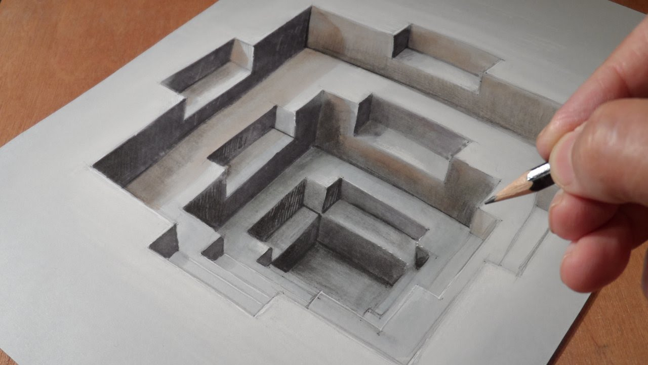 Optical illusion 3d drawings that will make you say wow
