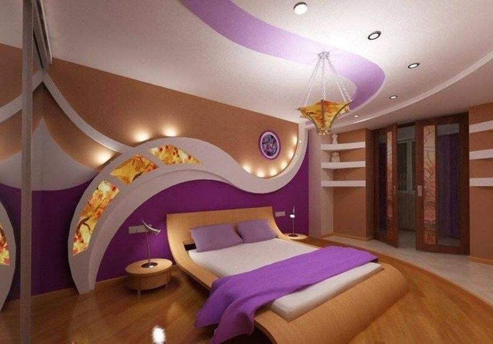 bedroom gypsum board