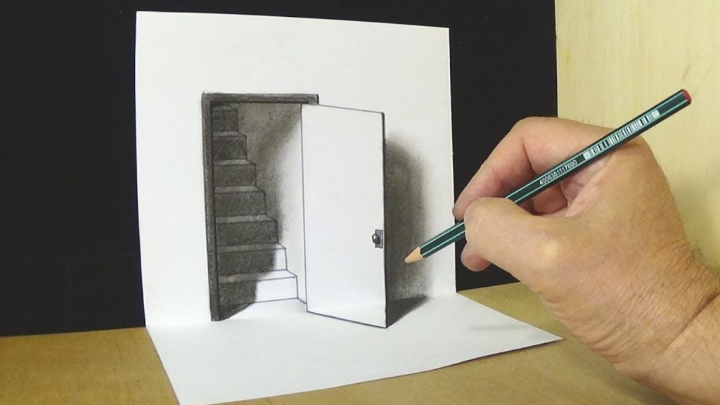door ilusion 3D drawings