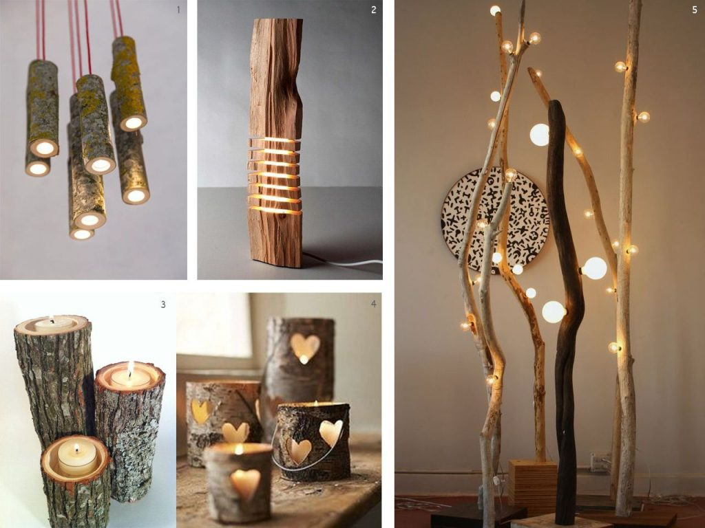 wood lamps