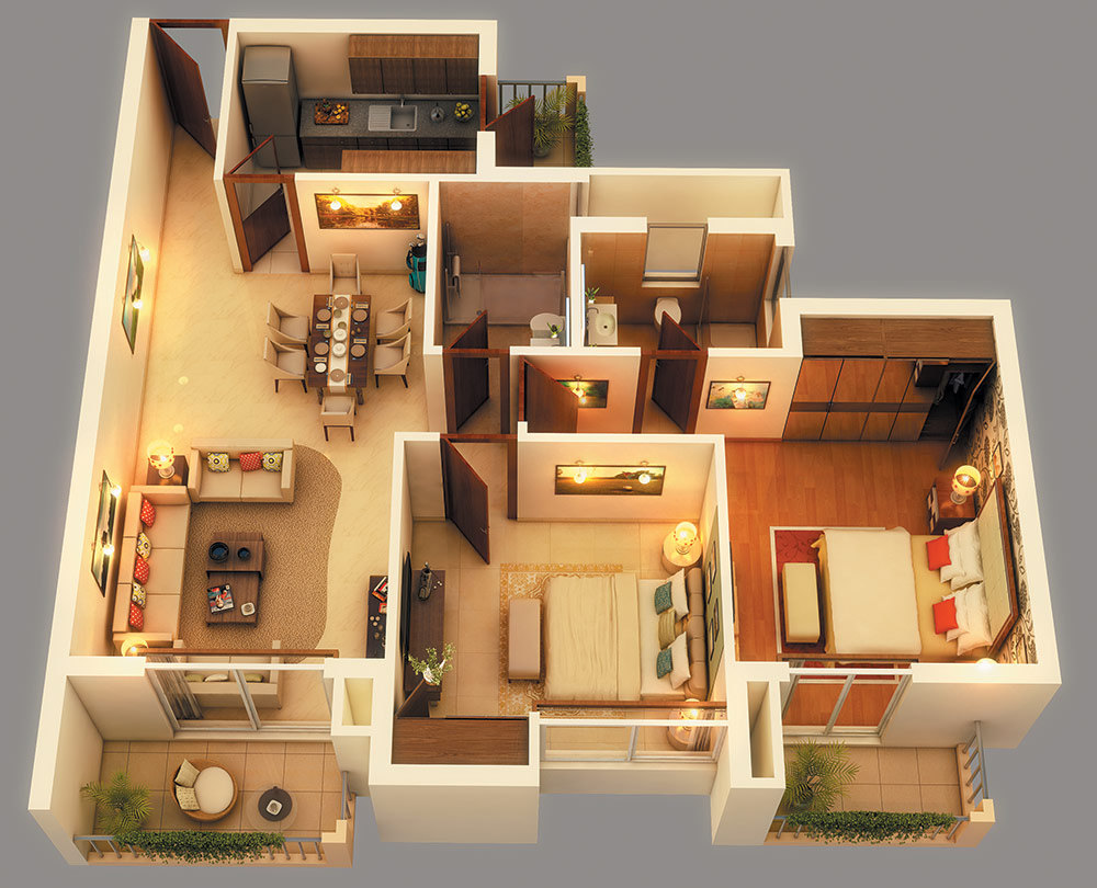 home plans in 3D