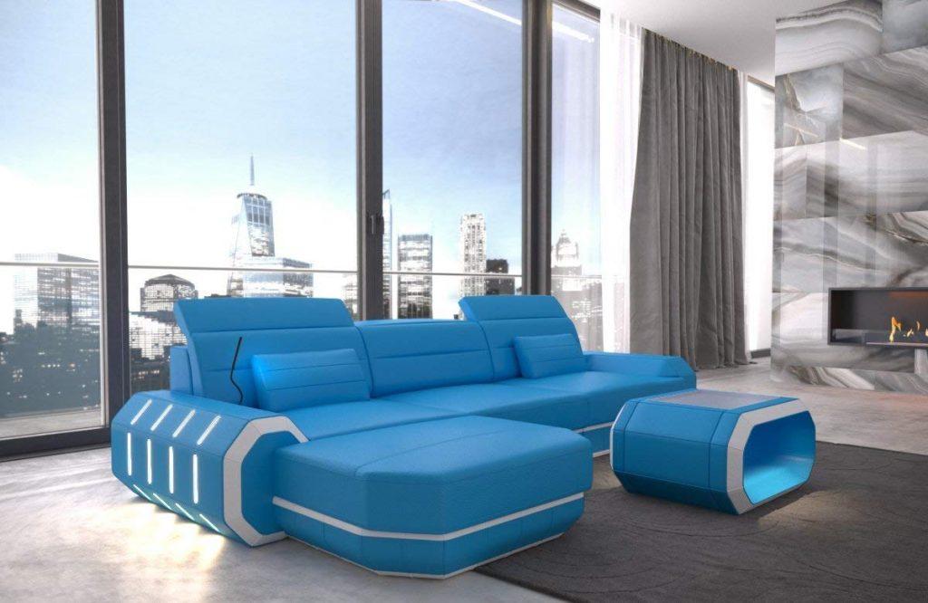 blue sofa design