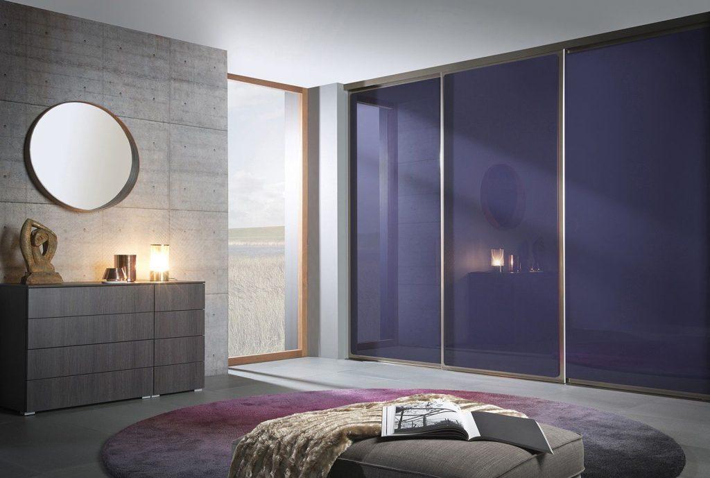contemporary laquered glass wardrobe