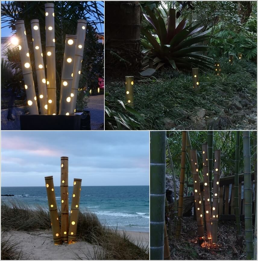 bamboo outdoor lighting