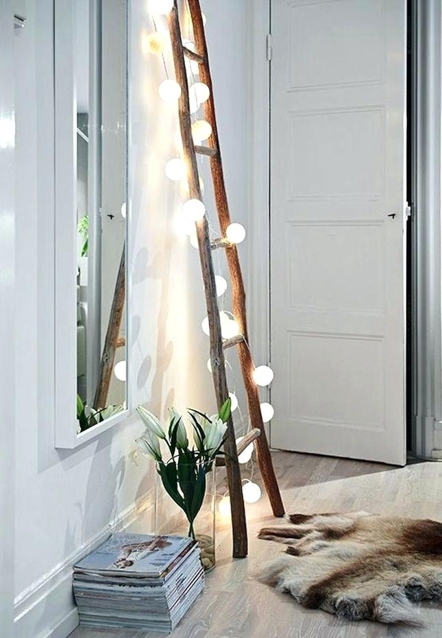 wooden ladder lights