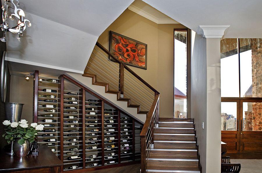 wine bottles storage