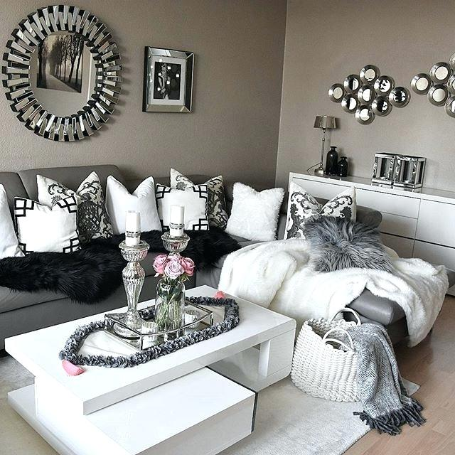 Gray Home Design Ideas: Black White Grey Living Room Design