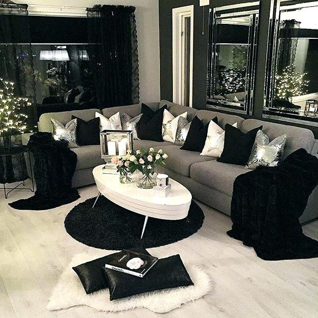 Black white grey living room design - Black and white and grey living room ...