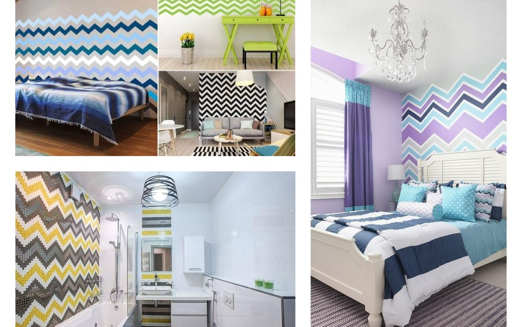 Awesome Chevron Patterned Wall Decor