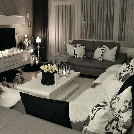 Black White Grey Living Room Design