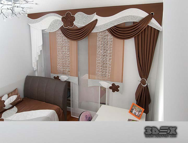 3D curtains design