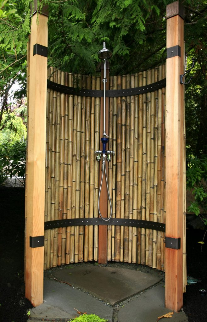 DIY bamboo shower