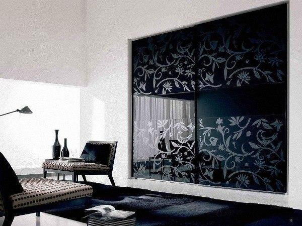glass bedroom wardrobe