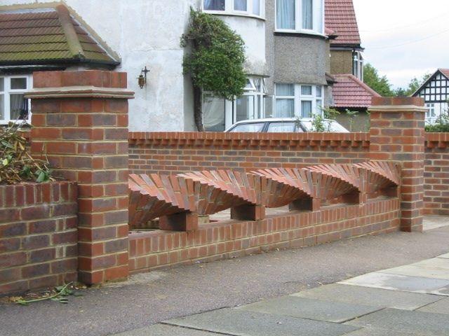 bricks art fence