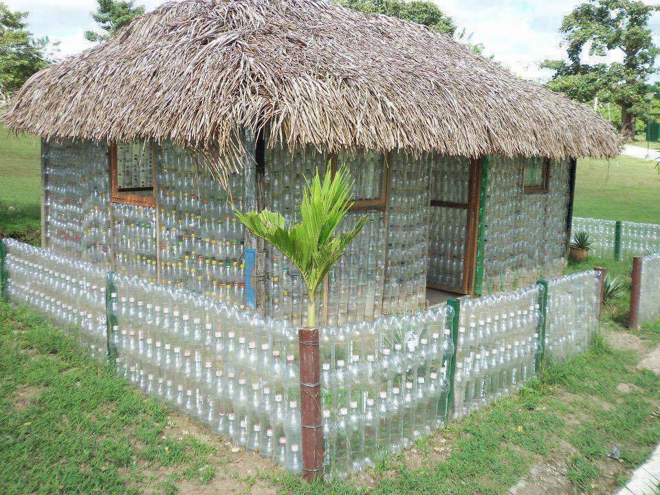plastic bottles house