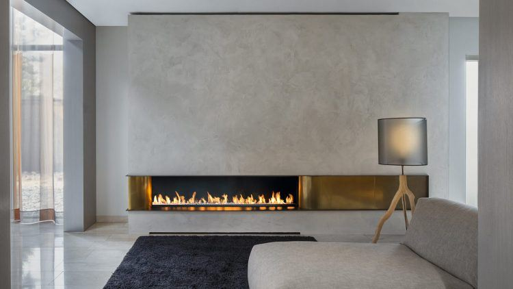 alluring fireplace in modern home
