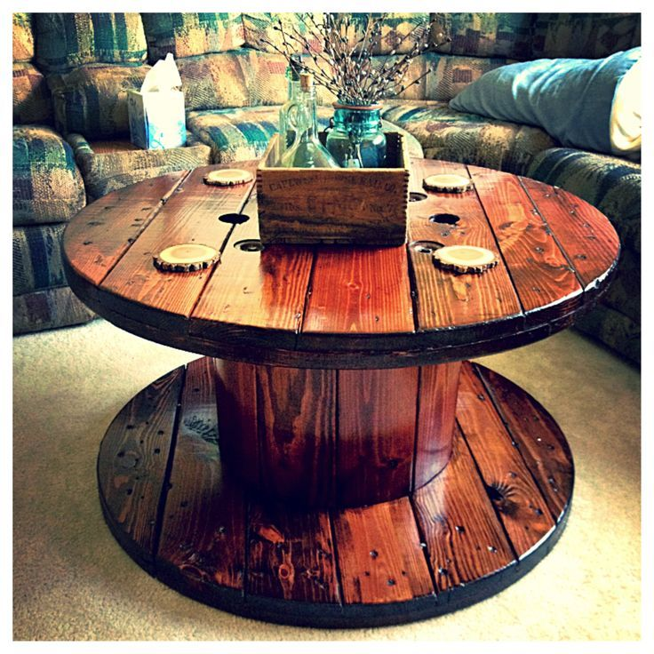 rustic spool table
