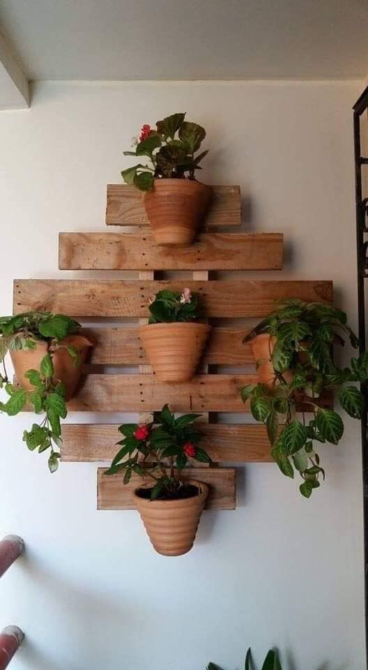 wooden stands for wall