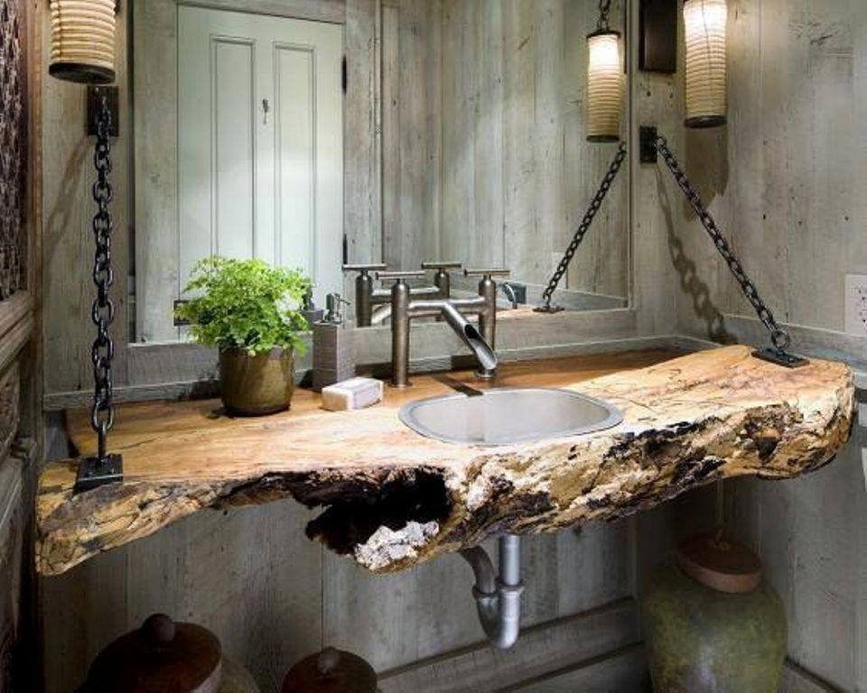 wooden bathroom sink
