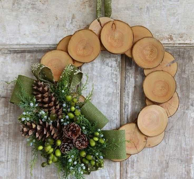wooden wreath, diy