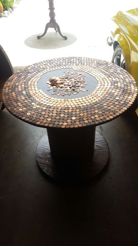 coins table top do it yourself project