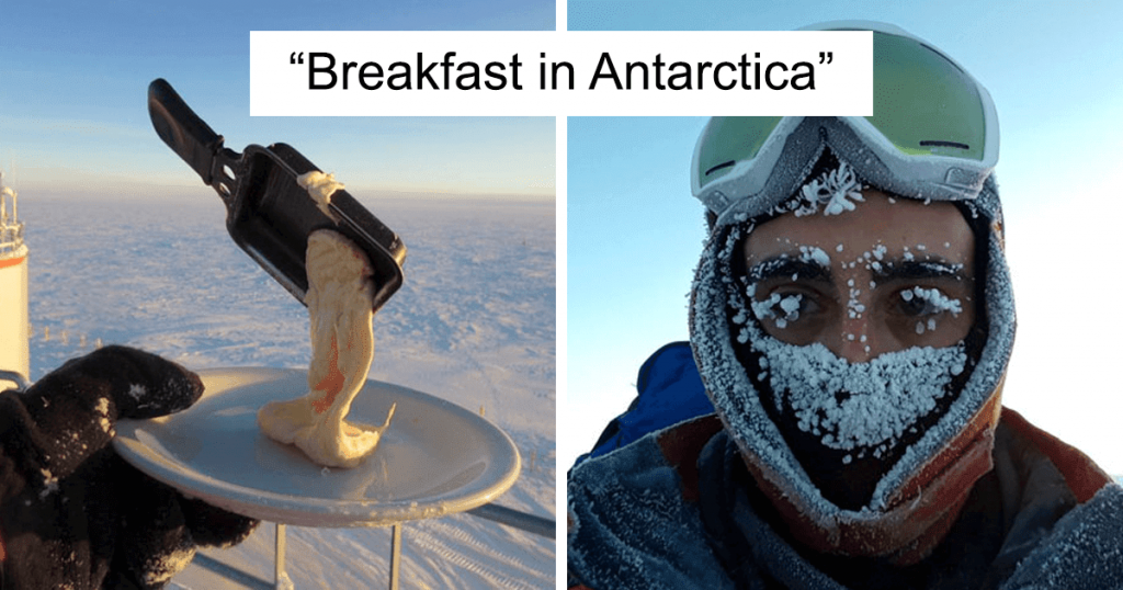 breakfast in Antarctica