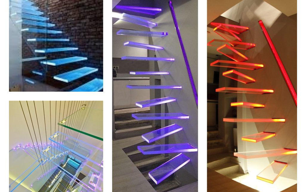 Luxury Glass Stairs With Lighting