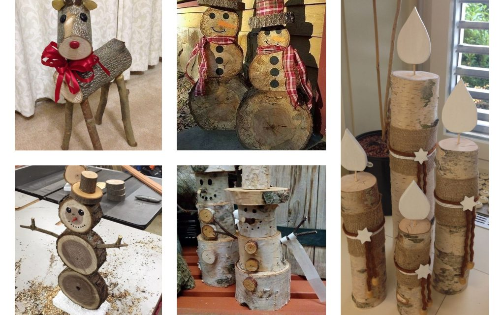 Tree Stumps Reuse for Christmas Decor