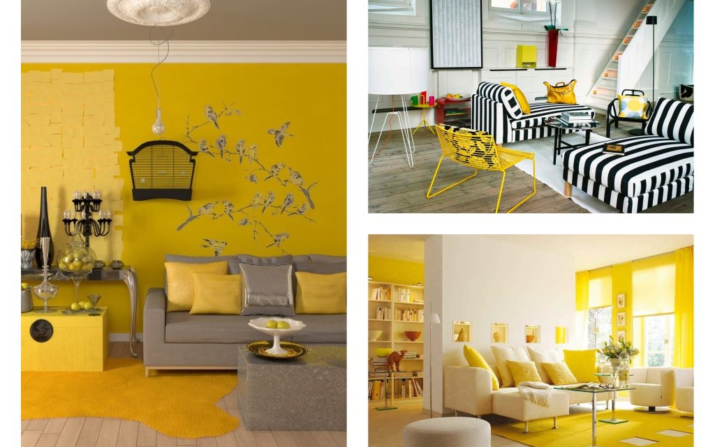 Add a Dash of Yellow Accent in Your Living Room