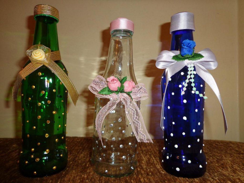 wine bottles reuse