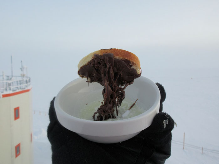 cooking in the Antarctica