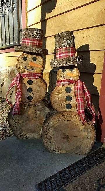 snowman of logs