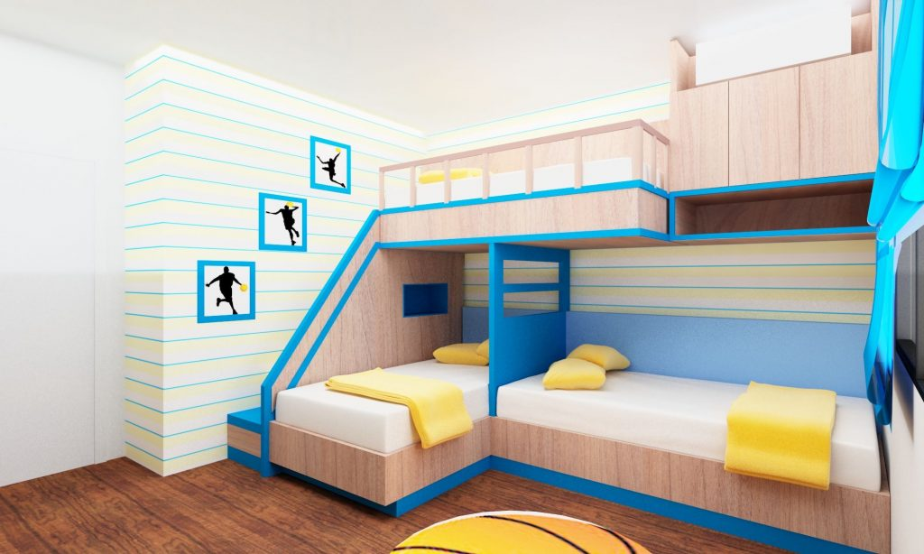 Picture of: Amazing Ideas About Designing A Room For Four Kids