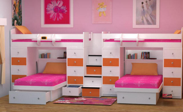bunk bed for girls room