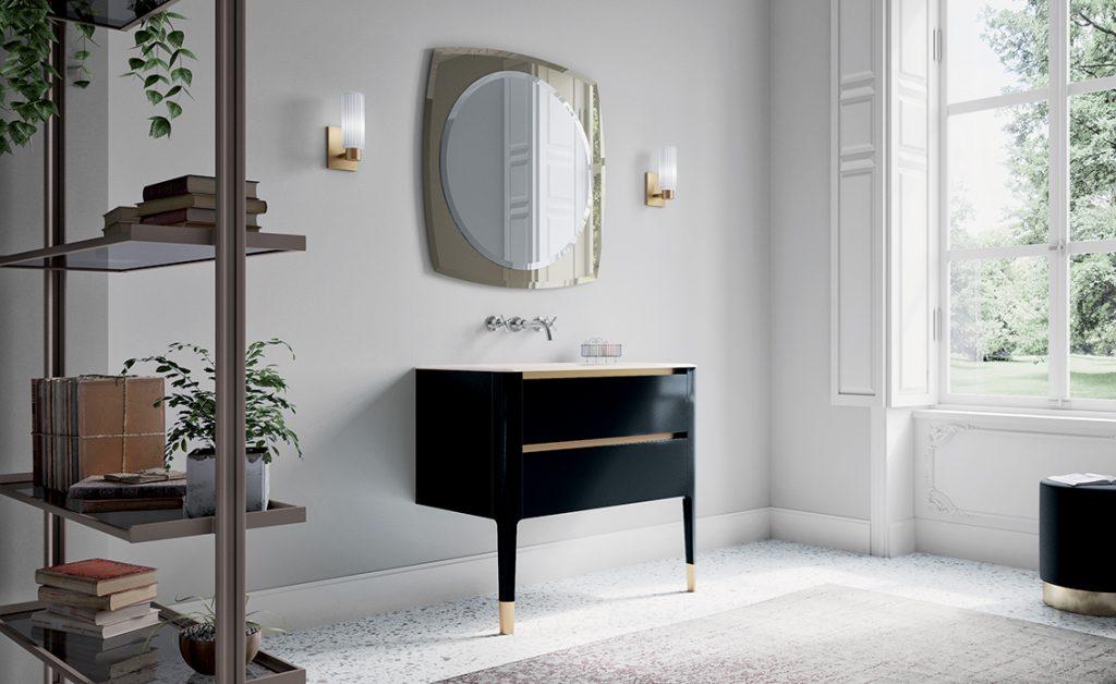 black bath sink