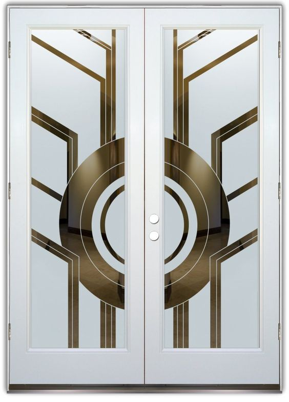 white and gold door