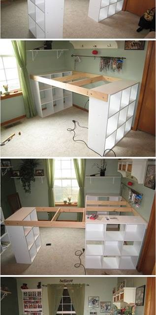 Creative DIY Customized Craft Desk Idea