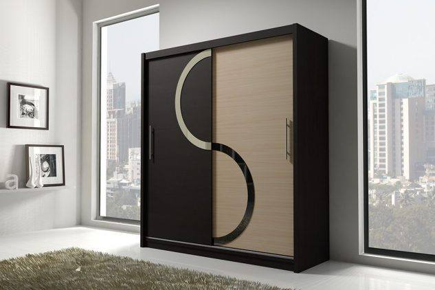 black and cream wardrobe design