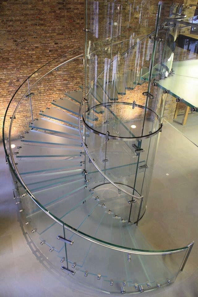 floating glass stairs