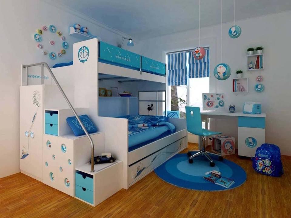 blue kids room design