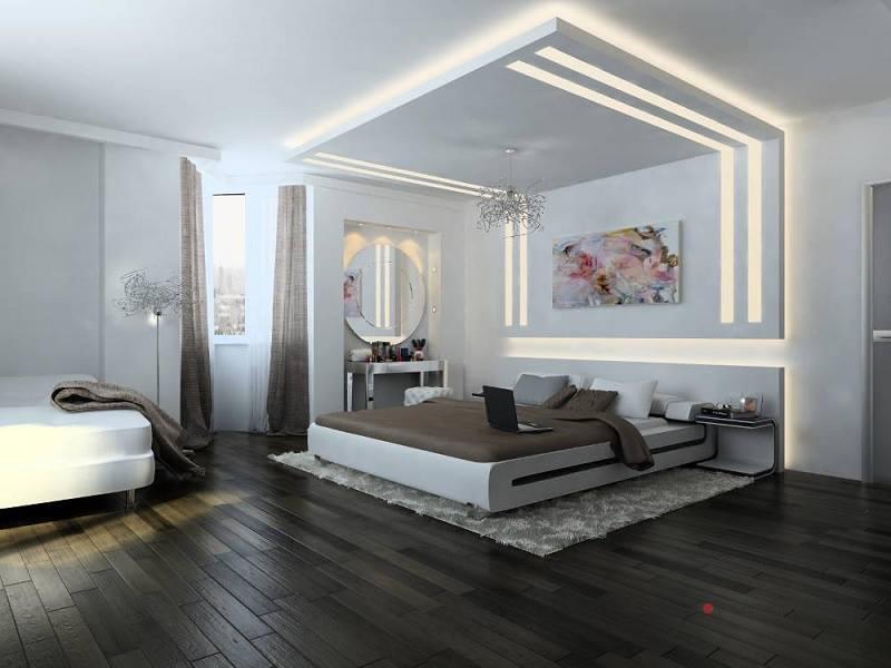 modern bedroom ceiling
