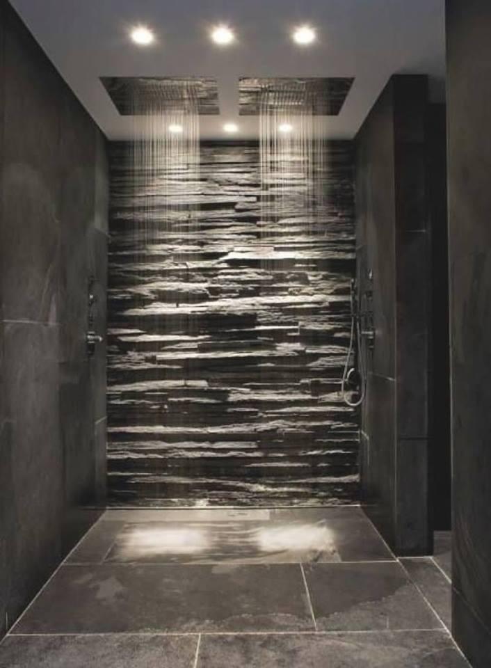 stones bath walls