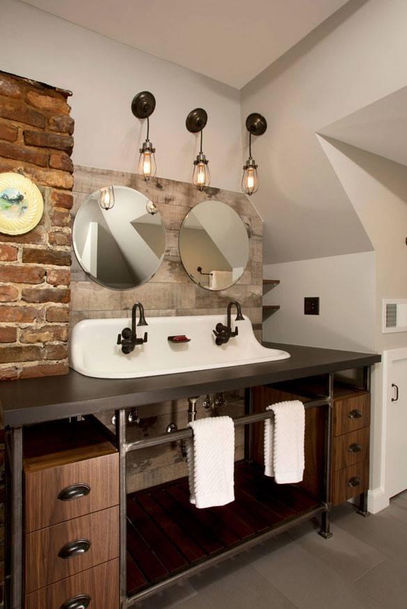 industrial style bath