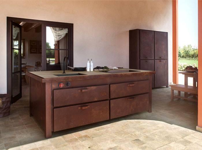 brown kitchen cabinet