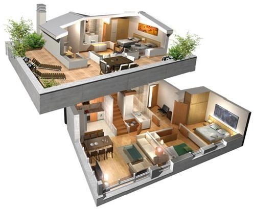 modern home in 3D