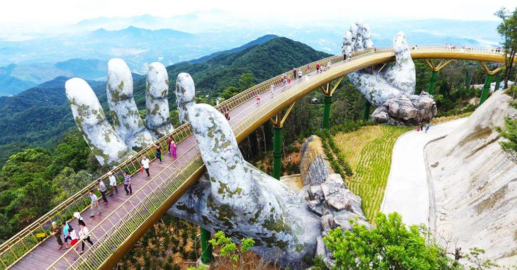 Vietnam's newly opened bridge