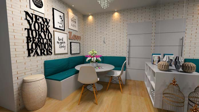modern corner seating areas