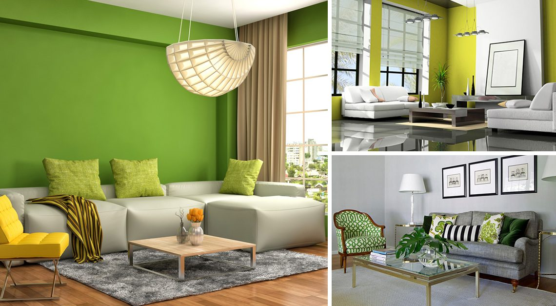 Our Favorite Green-Grey Living Room Design