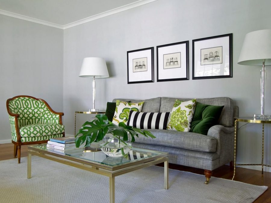 green-grey living room